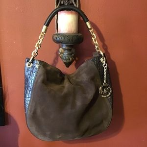 Michael Kors Brown Leather & Suede Hobo